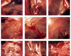 "Karine Laval<br /> <em>Untitled (Collision series #11-#19) grid of 9 prints, </em>2012<br /> Chomogenic print<br /> 20 x 20""  Edition of 5 (Plus 2 full sets of 9 prints)<br /> 48 x 48""  Edition of 5"