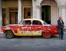 "Jeffrey Milstein<br /> <em>Man with Cigar, Havana, Cuba, </em>2004<br /> Archival pigment prints<br /> 16 x 24""  Edition of 15<br /> 22 x 33""  Edition of 5"