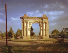 "Simon Norfolk<br /> <em>King Amanullah's 1919 Victory Arch at Paghman, </em>2001<br /> Digital chromogenic print<br /> 20 x 24""  Edition of 10 (plus 3 APs)<br /> 40 x 50""  Edition of 10 (plus 3 APs)"