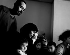 "Paolo Pellegrin<br /> <em>Shell shocked civilians in Tebnin, Lebanon,</em> 2006<br /> Pigment ink print<br /> 20 x 24""  Edition of 10 plus 2 APs<br /> 30 x 40""  Edition of 5 plus 2 APs<br /> 48 x 70""  Edition of 3 plus 2 APs<br />"