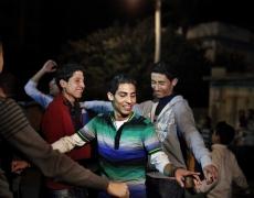 "Paolo Pellegrin<br /> <em>Groom's party at a Gazan wedding. Gaza city, Gaza. 2011</em><br /> Pigment ink print<br />20 x 24""  Edition of 10 plus 2 APs<br /> 30 x 40""  Edition of 5 plus 2 APs<br /> 48 x 70""  Edition of 3 plus 2 APs"