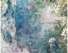 "Rey Parlá<br /> <i>Engaging The Multiverse</i>, 2015<br /> C-print (unique)<br /> 24 x 18"""