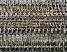"Christopher Payne<br /> <em>Doubling Machine Klotz Silk Throwing Mill, Lonaconing, MD, </em>2011<br /> Archival pigment ink prints<br /> 20 x 24""  Edition of 20<br /> 40 x 50""  Edition of 10<br /> 50 x 60""  Edition of 5"