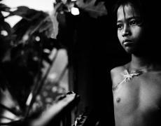 "Paolo Pellegrin<br /> <em>Phnom Penh, Cambodia, </em>1998<br /> Pigment ink print<br /> 20 x 20""  Edition of 10<br /> 30 x 30""  Edition of 6<br /> 48 x 48""  Edition of 3"