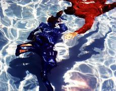 """Karine Laval<br /> <em>Poolscape #62</em>, 2010<br /> Chromogenic print<br /> 20 x 20""""  Edition of 15<br /> 30 x 30""""  Edition of 9<br /> 50 x 50""""  Edition of 5"""