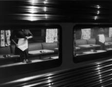 "Louis Stettner – Penn Station<br /> <em>Dinner Car, Penn Station, New York, 1958</em><br /> gelatin silver print<br /> 11x14""<br /> 16x20""<br /> 20x24"""