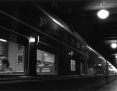 "Louis Stettner – Penn Station<br /> <em>Six Lights, Penn Station, 1958</em><br /> gelatin silver print<br /> Signed, titled and dated on verso<br /> 11x14""<br /> 16x20""<br /> 20x24"""