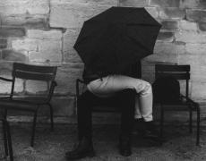 "Louis Stettner – Paris<br /> <em>Jardin des Tuileries, 1997</em><br /> gelatin silver print<br /> 11x14""<br /> 16x20""<br /> 20x24"""