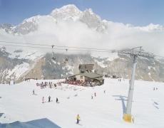"Massimo Vitali<br /> <em>Mont Blanc</em>(#0653), 2000<br /> Digital C print with Diasec mount<br /> 71 x 92""  Edition of 6"