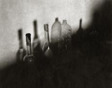 "Regina DeLuise<br /> <em>Morandi Bottles, La Tanelle, Italy, 1998</em><br /> Platinum-palladium print on rice paper<br /> 9 x 11""  Edition of 15"