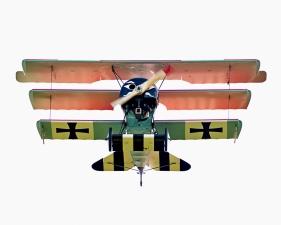 """Jeffrey Milstein<br /> <em>Fokker Dr-1, </em>2008<br /> Archival pigment prints<br /> 20 x 20""""  Edition of 15<br /> 34 x 34""""  Edition of 10<br />"""
