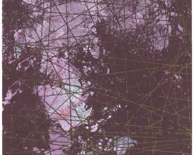 """Rey Parlá<br /> <i>Multiplicity Forever</i>, 2014<br /> Glow paper (unique)<br /> 30.86 x 25.75"""""""
